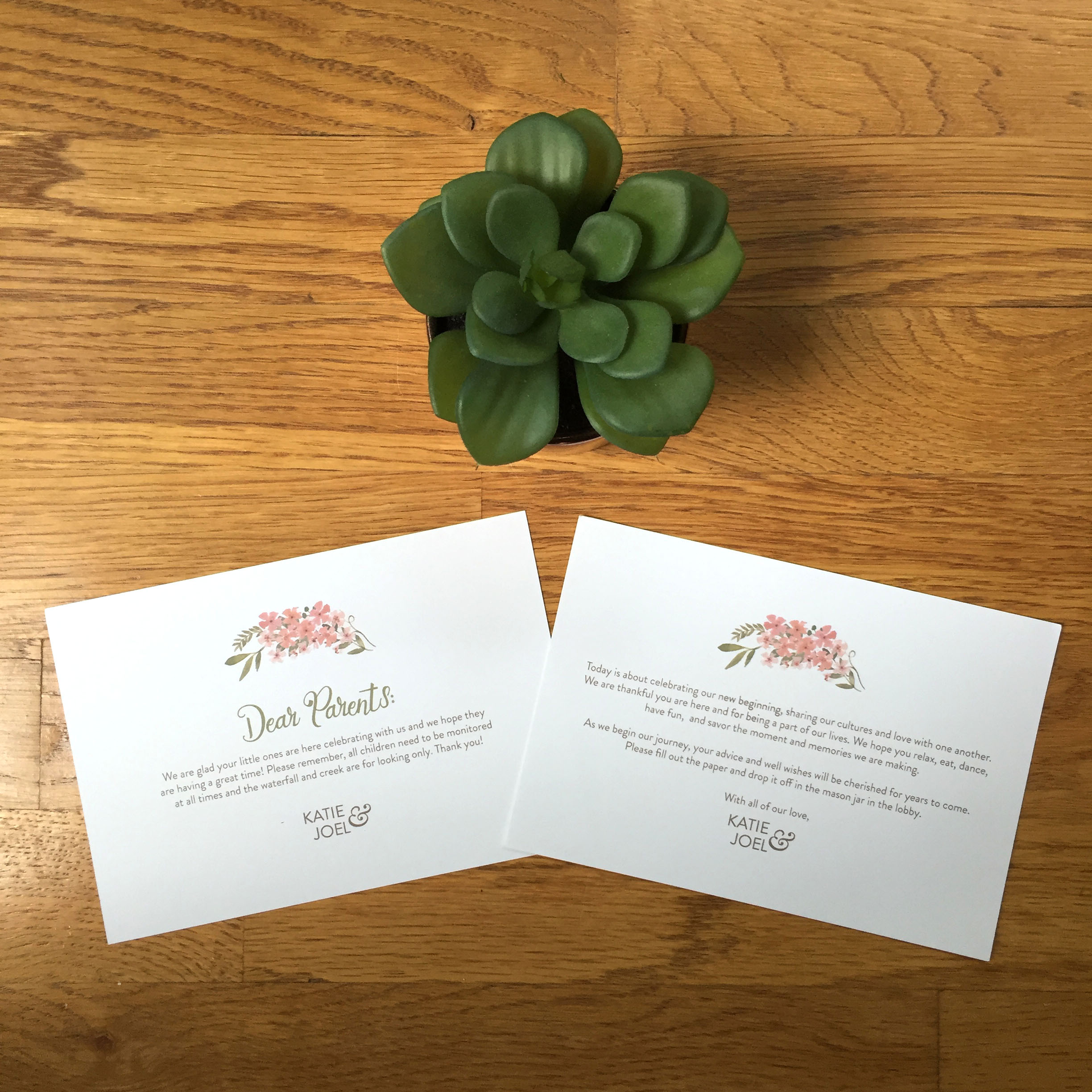 Custom Wedding Thank You Note