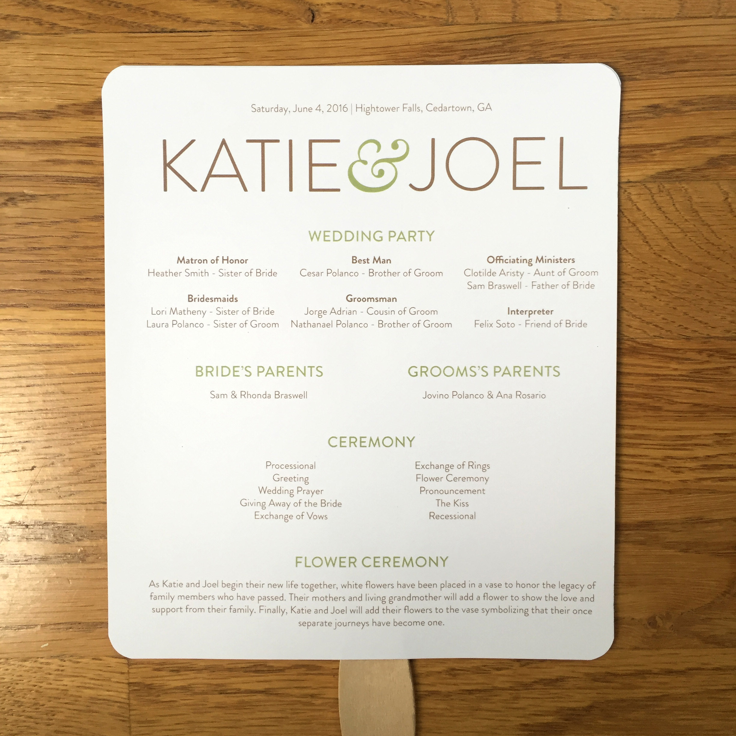 Custom Wedding Invitation, Cookbook Wedding Favor, Fans and Info Cards