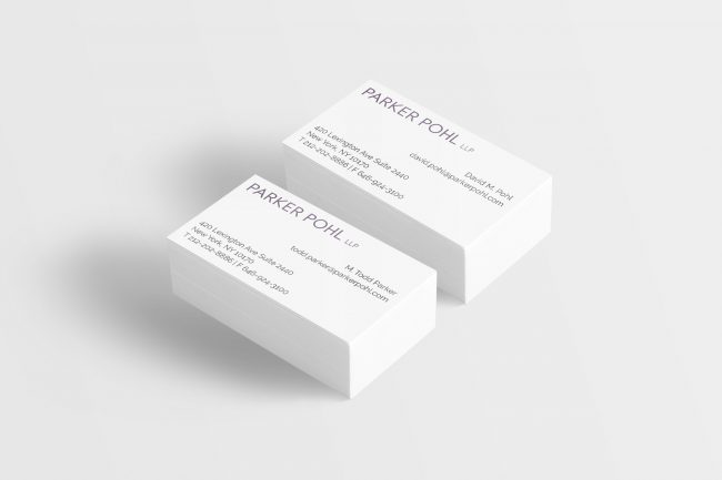 Parker Pohl LLP Business Cards