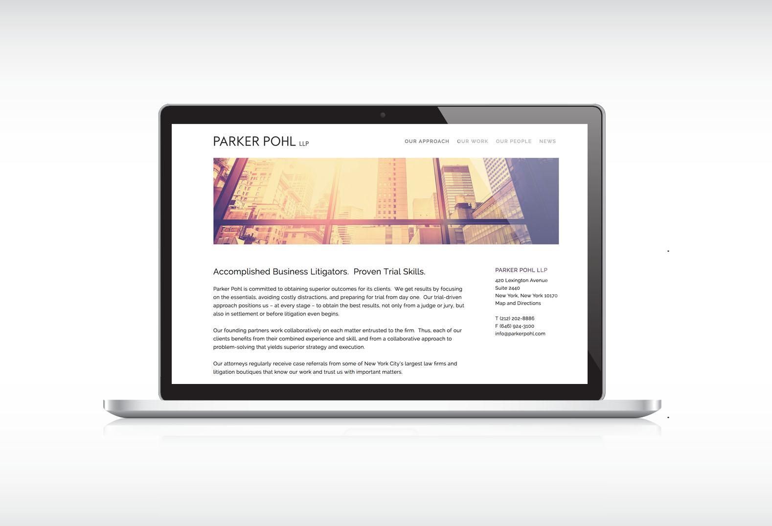Parker Pohl LLP Website