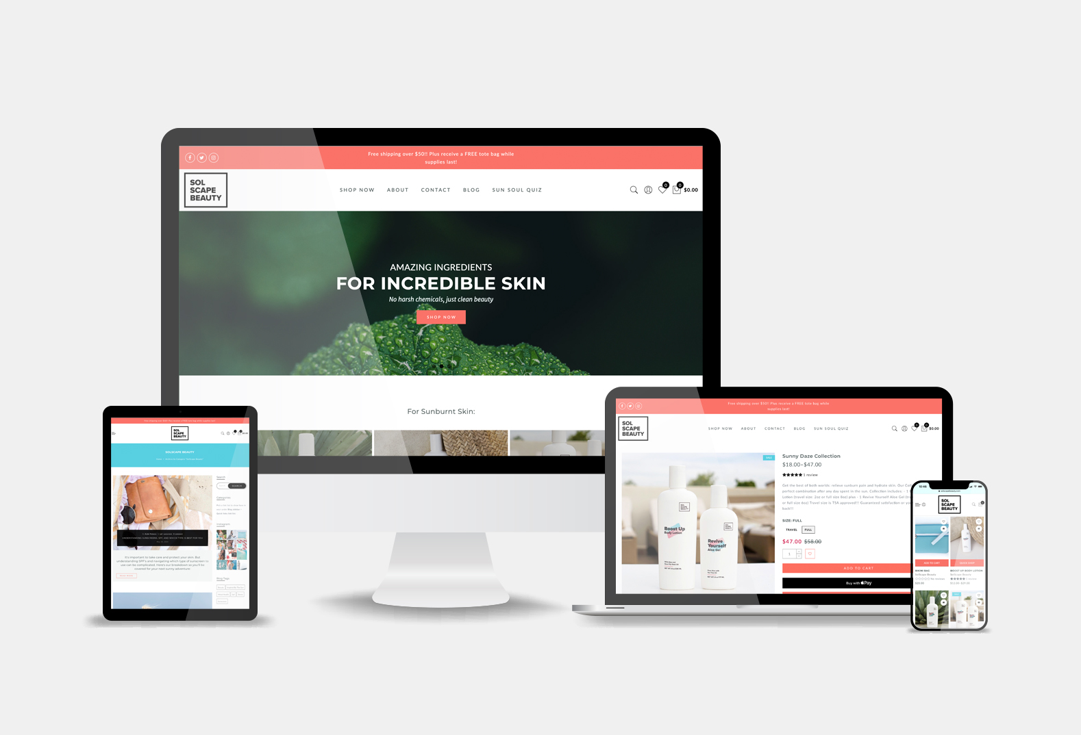 SolScape Beauty Website